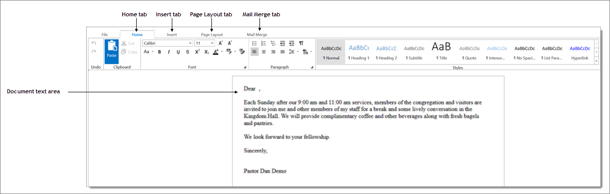 How To Edit The Contents Of A Mail Merge Template