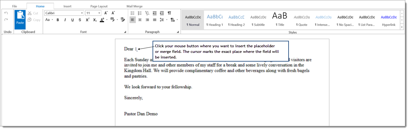 Psfs Family Directory Mail Merge How To Create A Mail Merge